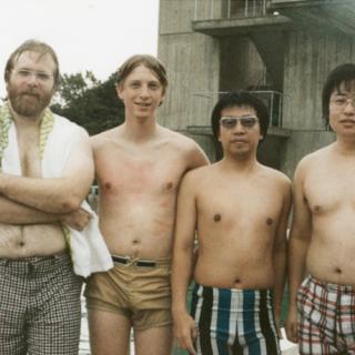 Primera visita del staff de Microsoft  a Japón.